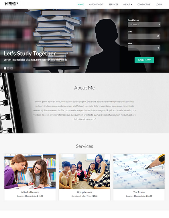 Teacher Website Template #9