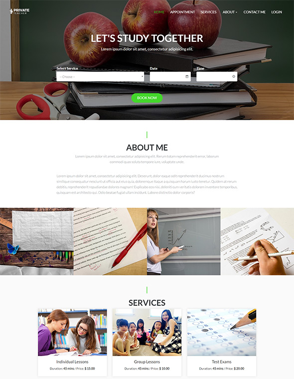 Teacher Website Template #1