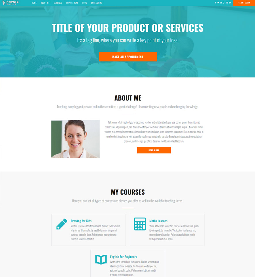 Teacher Website Design by VEVS 3