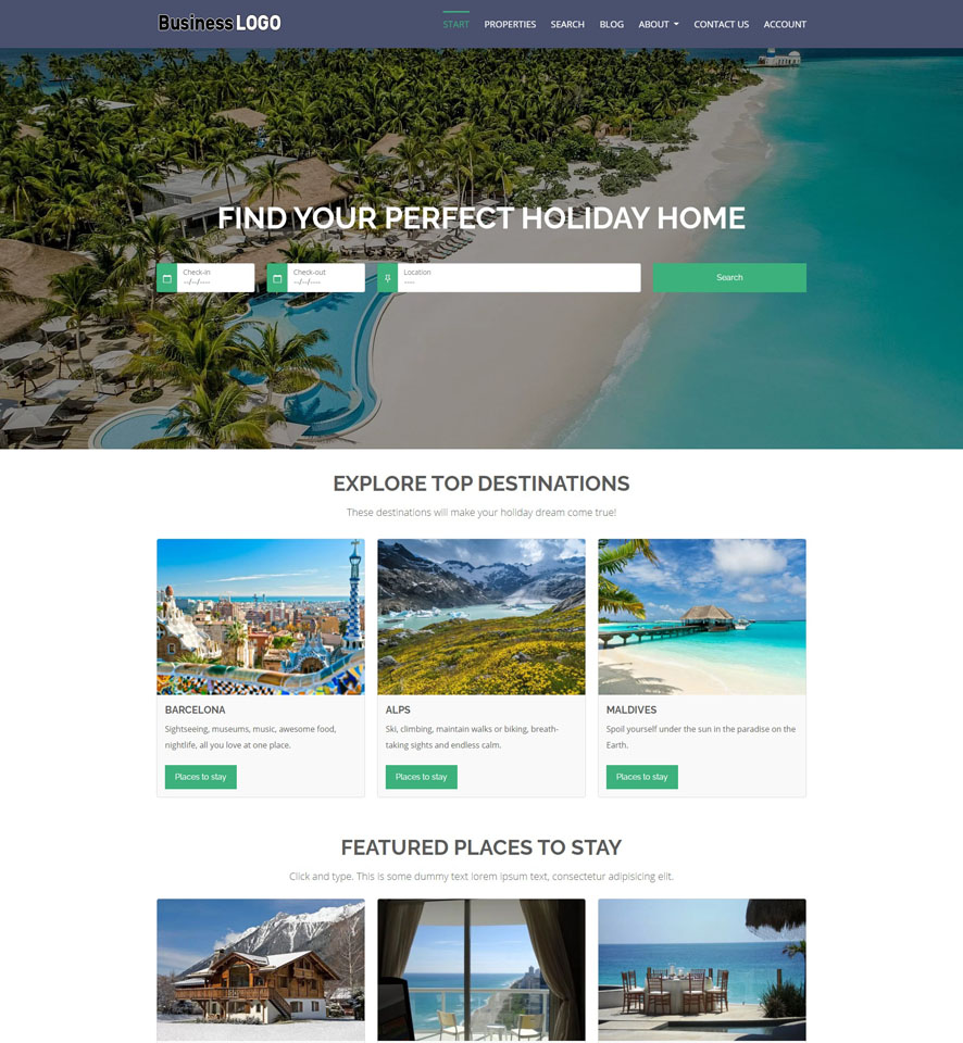 Vacation Rental Website Design by VEVS 1