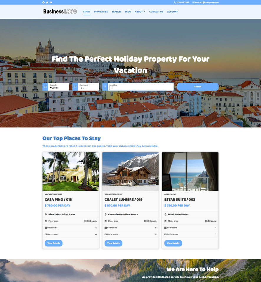Vacation Rental Website Design by VEVS 2