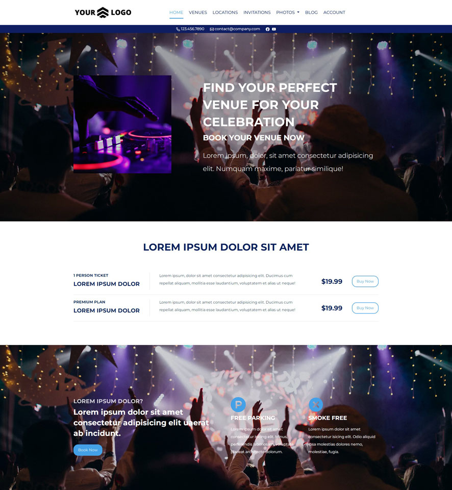 Venue Website Design by VEVS 2