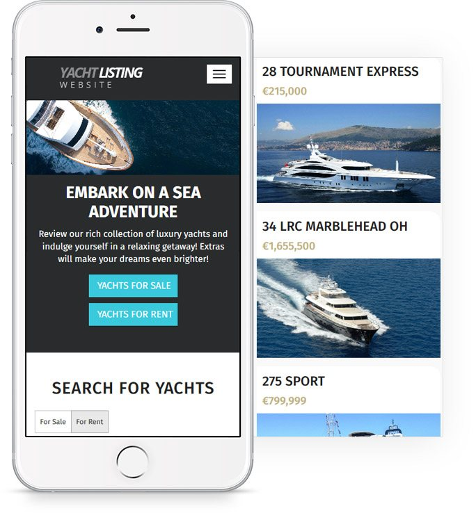 Yacht & Boat Website