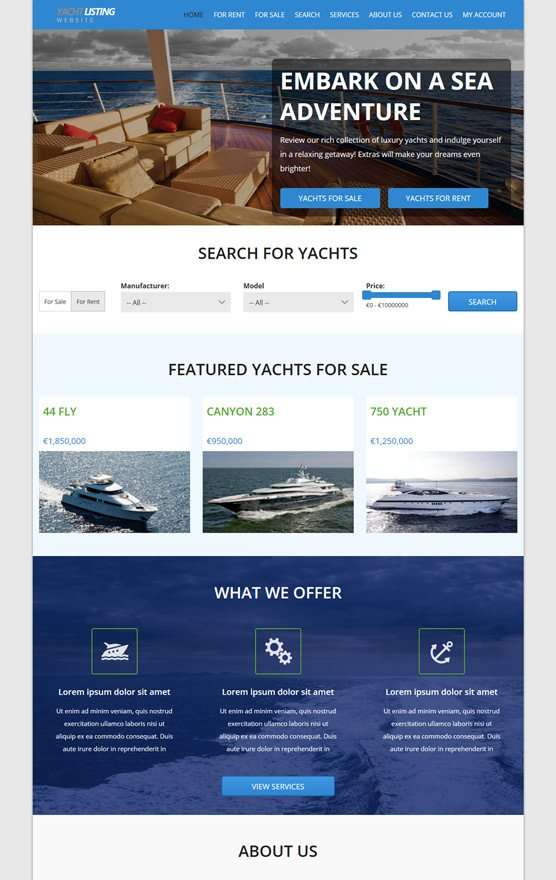 VEVS Yacht & Boat Websites 2
