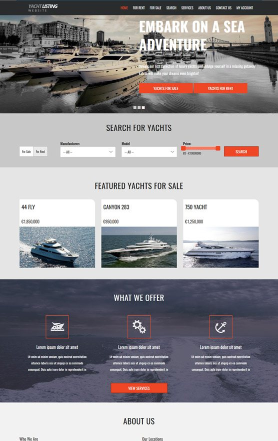 VEVS Yacht & Boat Websites 3