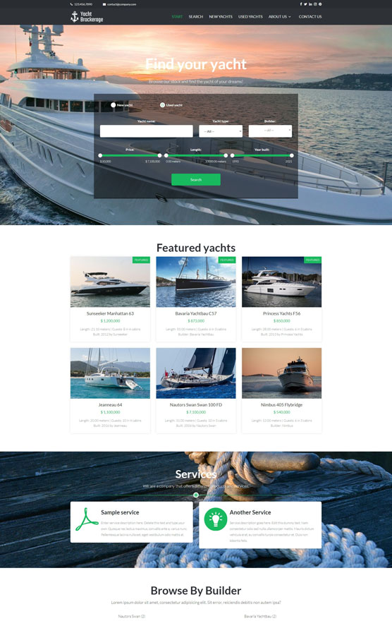 Yachts For Sale Website 2