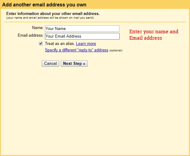 Set up an alternative email as sender on Gmail