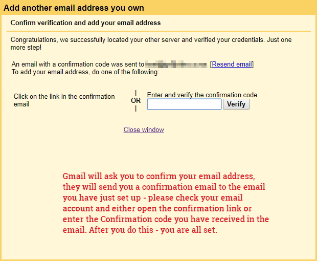 Gmail alias email setup - SMTP Server settings