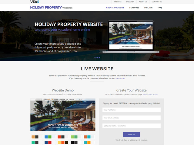 Create your stylish Holiday Property Website