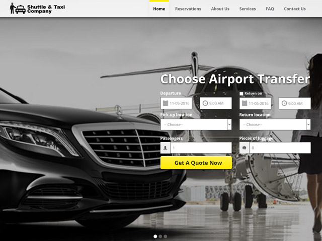 Create your Shuttle Taxi Website with VEVS